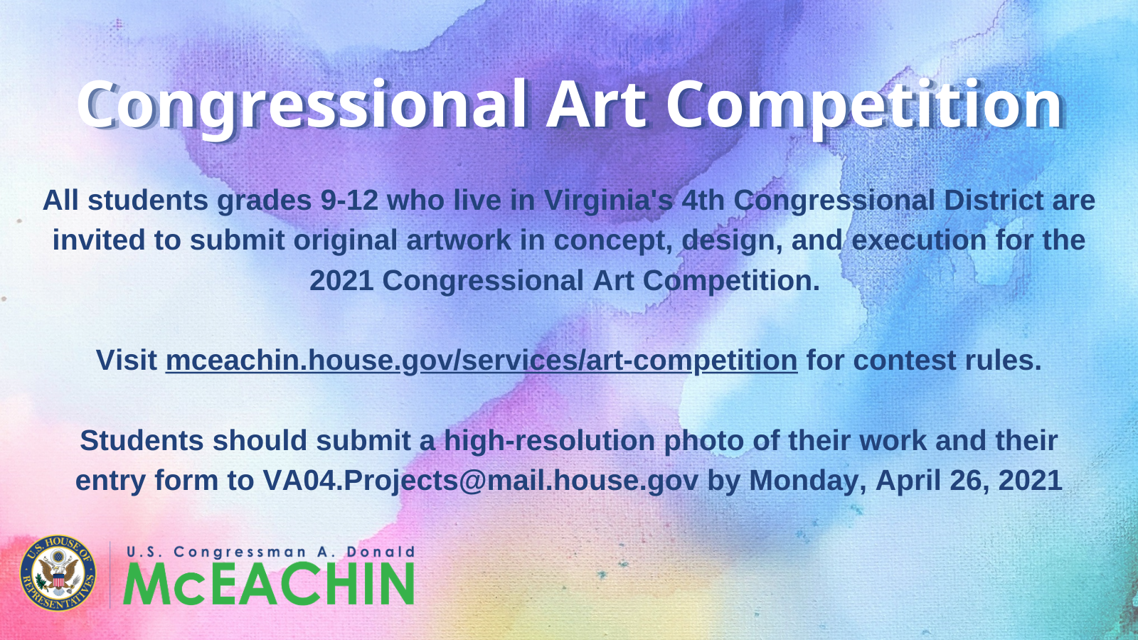 2021 Congressional Art Competition graphic